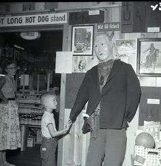 Little boy & mannequin, Wall Drug, South Dakota
