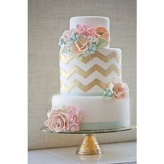 Prettiest Wedding Cakes with a DIY Wedding Cake Totally Love It found on Polyvore
