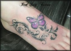 Flower Tattoos On Foot | 10 Sexy Foot Tattoos for Women | Unique Tattoo Ideas