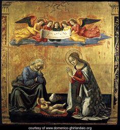 The Nativity, c. 1492, by Domenico Ghirlandaio