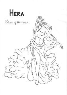 Hera  coloring page Greek God mythology Unit study by LilaTelrunya