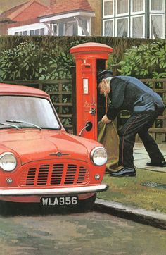 Ladybird Images, Ladybird Books, Best Memories, Childhood Memories, Letter Boxes, London Landmarks, Puzzle Art, Post Box, Working People