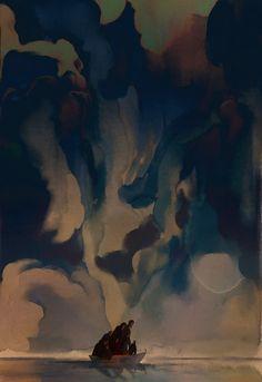Sunless Sea, an art print by Erin Vest Multimedia, Sunless Sea, Twitter, Fantasy Illustration, Freelance Illustrator, Saturated Color, Art Blog, I Love Dogs, The Help