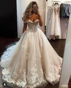 Princess Wedding Dresses, Dream Wedding Dresses, Big Bust Wedding Dress, Disney Wedding Gowns, Wedding Dress Shopping, Bridal Dresses Online, Bridal Gowns, Long Prom Gowns, Big Prom Dresses
