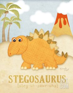 Stegosaurus Art Print by Jennifer Pugh at Art.com