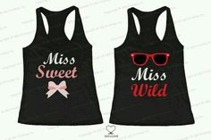 Miss Sweet / Miss Wild matching tank tops