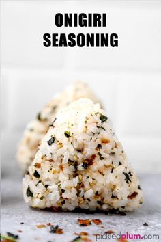 How To Make Onigiri - おにぎり- Easy Recipes!) - Pickled Plum Food And Drinks - All About Onigiri – おにぎり- (How to Make + 4 Easy Recipes) – Easy fillings for fish lovers - Sushi, Japanese Dishes, Japanese Food, Onigirazu, Vegetarian Recipes, Cooking Recipes, Lunch Recipes, Asian Recipes, Japanese Recipes