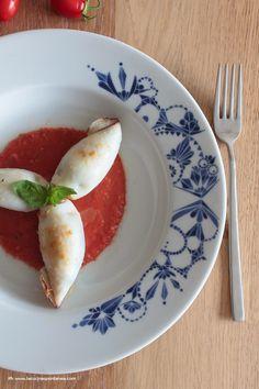 La cucina spontanea: Totani ripieni con zucchini ed erbe aromatiche