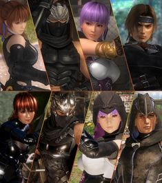 Thought I would also compare the Mugen Tenshin Clan that is Kasumi, Ayane, and Hayate featuring Ryu Hayabusa in both Dead or Alive 5 and Dead or Alive Mugen Tenshin with Ryu Hayabusa Comparison Ryu Hayabusa, Ninja Games, Ninja Sword, Fighting Games, Super Smash Bros, Doa, Game Character, Gym Room, Fan Art