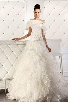 Wedding dresses 2015 New Arrival quartz crystals wedding tulle Bridal Gowns Bridal Applique line Bolero Cap sheer Vestido Fold