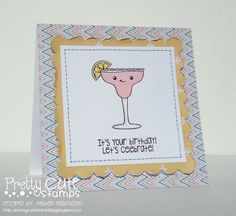 Card I created for Pretty Cute Stamps #PrettyCuteStamps #PinkPaislee #Stamped #Friendship