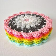 flower coaster tutorial ༺✿Teresa Restegui http://www.pinterest.com/teretegui/✿༻