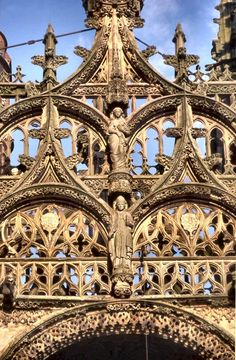 ALBI. Ste-Cécile - #Gothic cathderal detail of stone carving