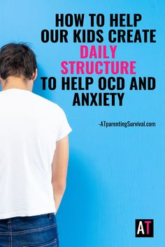 During these difficult times when kids are home more and socializing less, here are some tips for creating structure to help your child or teen with OCD or anxiety. With the amount of time spent online these days, these tips can help you create structure for your child. Ocd In Children, Anxiety In Children, Adhd Kids, How To Calm Anxiety, Stress And Anxiety, Mental Health Matters, Anxiety Relief, Coping Skills