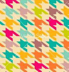 Houndstooth trendy pattern vector