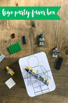 Get the simple DIY for this fun LEGO Party Favor Box on Everyday Party Magazine. Perfect for LEGOs on the go! #LEGO #PartyFavor #LEGObox #DIY