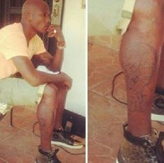 "Check out Chad ""Ochocinco"" Johnson's New Evelyn Lozada Tattoo He Got On Him"
