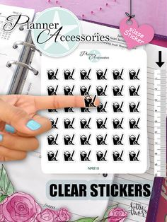 Clear Mop Stickers Household Stickers von EmelysPlannerShop auf Etsy