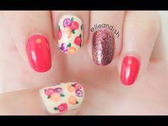 Easy Fall Floral Nails (No Nail Tools!) - YouTube