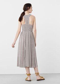 Платье с принтованными цветами   MANGO МАНГО