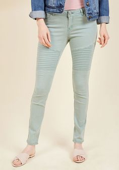 Added Edge Skinny Jeans in Sage