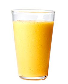Apple Carrot Ginger  1 cup fresh carrot juice  1 green apple, peeled, cored, and chopped  2 teaspoons freshly grated ginger  1 cup freshly squeezed orange juice  1 tablespoon honey