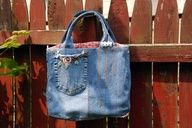 How to Make a Mini Tote out of Embroidered Jeans