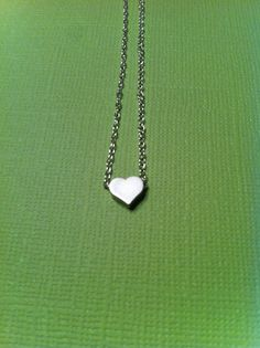 Silver plated tiny heart necklace