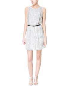 Polka Dot Print Dress from Zara