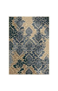 Orian Rugs Indoor/Outdoor Leaves Victorian Damask Multi Area Rug