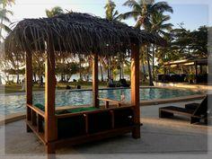 Lomani Island Resort, Fiji. Cocktails by the pool at sunset. EW 10/13 #emmawhitingtravel