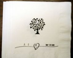 Hey, I found this really awesome Etsy listing at https://www.etsy.com/listing/225982142/custom-wedding-napkinstree-of-life-love