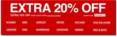 MACY'S - extra 20 percent off. extra 15 percent off home and select departments. promo code SUNDAY