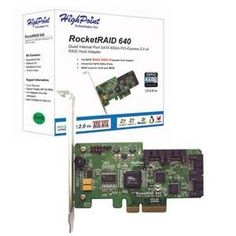 HPT USA/Highpoint Tech, SATA RAID Host Adapter (Catalog Category: Controller Cards / RAID- SerialATA Controllers) by HPT. $129.89. HPT USA/Highpoint Tech, SATA RAID Host Adapter (Catalog Category: Controller Cards / RAID- SerialATA Controllers) PCI-Express 2.0 x4 (Compatible with PCI-Express 1.0). 4 SATA ports. Port Multiplier supports up to 20 drives. RAID 0 1 5 10 and JBOD. Support Windows Linux FreeBSD. Low Profile. This new RocketRaid Series offers the next gene...