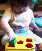 This baby learning