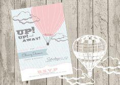 Hot Air Balloon Invite by jaynesalentiny on Etsy, $15.00