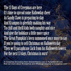 Invoking the Creepmas Spirit and Summoning the 13 Days of Creepmas