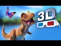 Dinossauros 3D Animation - Red Cyan 3D video - 3D Movie Trailer - YouTube