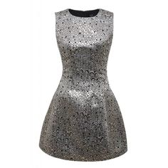 AX Paris Metallic Sleeveless Skater Dress ($59) ❤ liked on Polyvore featuring dresses, metallic, women, multi-color dress, skater dress, black sleeveless dress, black flared skirt и skater skirt