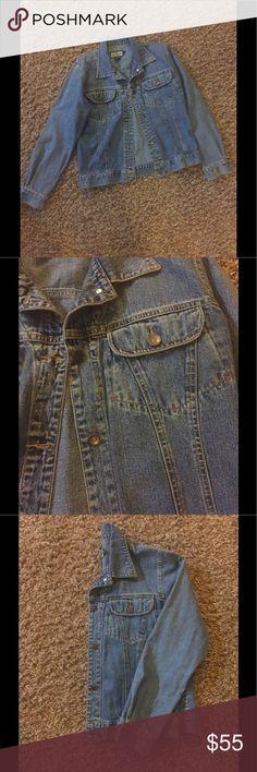 6152493dacb65 Vintage RUFF HEWN slightly distressed Denim Jacket Very cool 😎 vintage RUFF  HEWN Jean Jacket!
