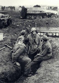 """SS """"Großdeutschland"""" Division was engaged in heavy fighting in East Prussia ,1945."""