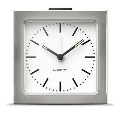 LEFF Amsterdam Silver Index Block Clock #Clock #Desk #Home #Room #LEFF #Time #Dutch #Design #Alarm #Homeaccesories #Block #Erwintermaat #Stainlesssteel