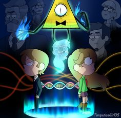 This is a somewhat metaphorical representation of the story of these characters Threads Gravity Falls Crossover, Reverse Gravity Falls, Gravity Falls Fan Art, Reverse Falls, Steven Universe, Monster Falls, Dipper And Pacifica, Gravity Falls Journal, Most Popular Cartoons