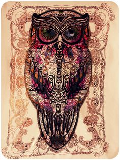 owl....tapestry-esque?