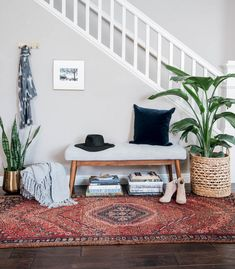 california boho entryway