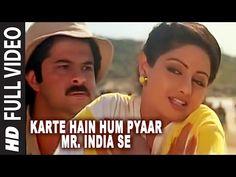 'Karte Hain Hum Pyaar Mr. India Se' Full VIDEO Song - Mr. India - Anil Kapoor,Sridevi - YouTube
