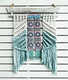 modern macrame wall hanging macrame weaving tapestry by RanranDesign on Etsy