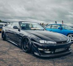 #Nissan #Silvia #S15 #Modified #Stance #JDM #Black_On_Black