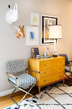 Name: Cate Grosch Location: San Francisco, California My husband, two young children and our dog just moved to a new place in the Marina. We love the light, the high ceilings and the little nook off the kitchen.