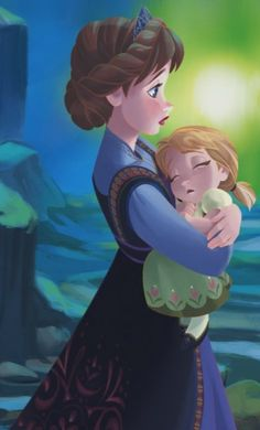 I know this is Anna from Frozen with her mother, but it reminds me of Shaylee with her daughter.